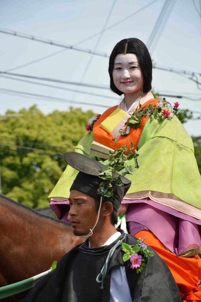 Pretty lady from Aoi Matsuri in Kyoto