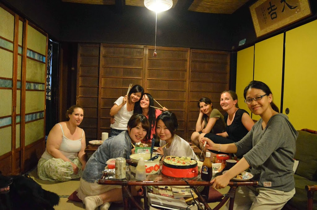 Takoyaki Party with all the roommates from Japan, Italy, and France.