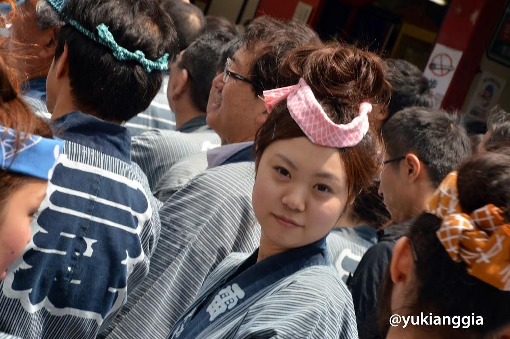 Japanese girl from Sanja Matsuri in Tokyo