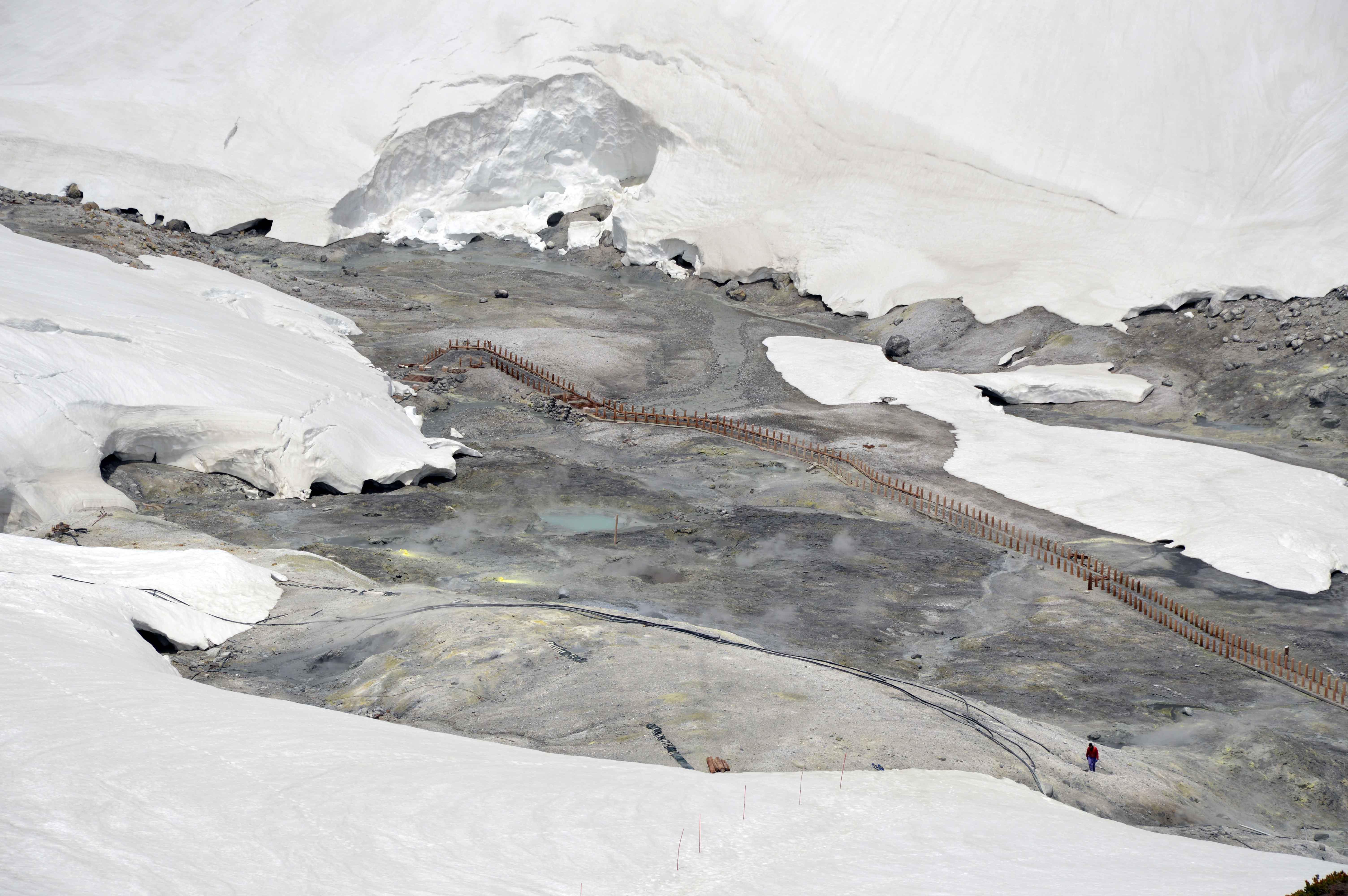 jigokudani (hell valley) dilihat dari atas