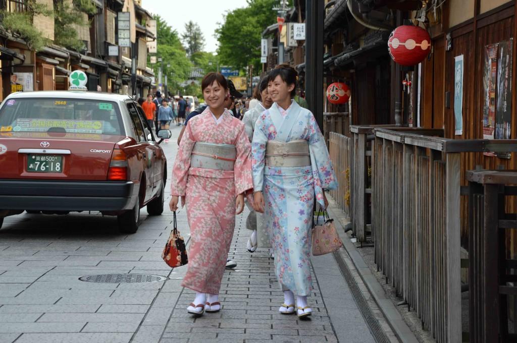 Suasana tradisional di Gion