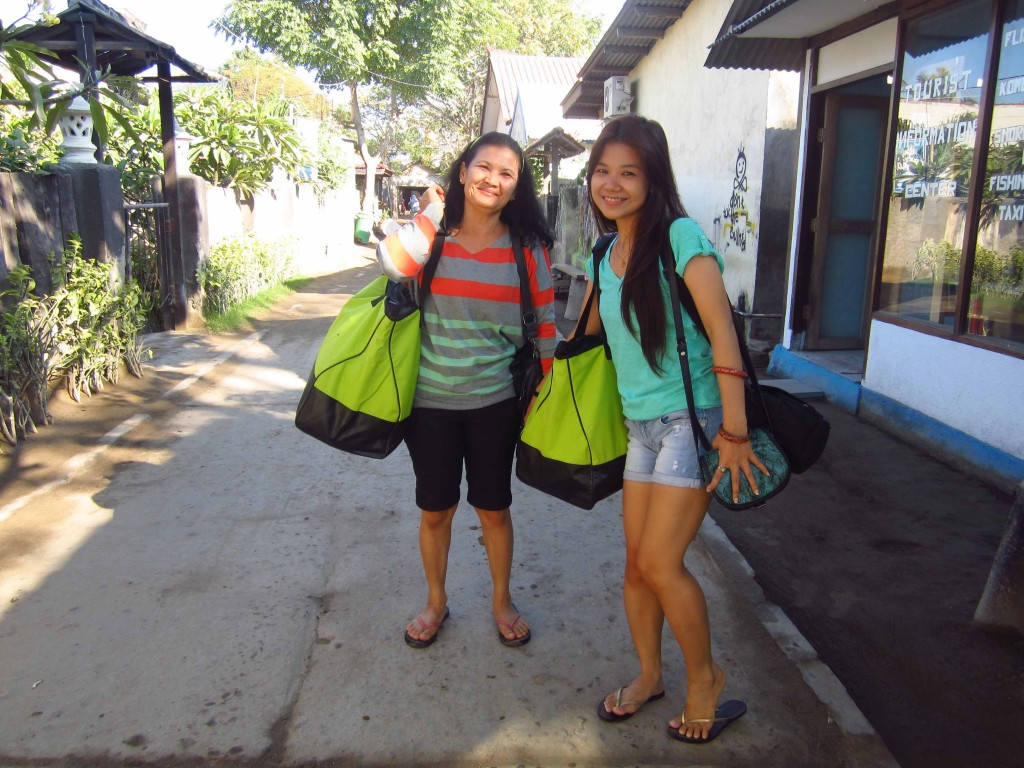 Matching bags, lol!