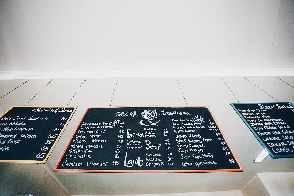 Daftar menu di HaloNiko!